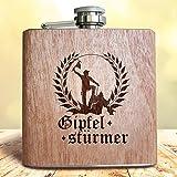 Holz Flachmann Gipfelstürmer
