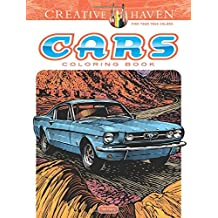Creative Haven Cars Coloring Book (Adult Coloring) (Creative Haven Coloring Book)