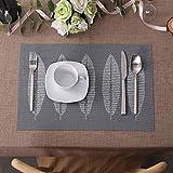 Lovecasa 6 teilig Set PVC Tischmatte, Platzset, Abwaschbar, 45 x 30 cm - 5