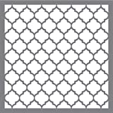Rayher - Stencil a nido d'ape alla moda, 1 pezzo, grigio, 30,5 x 30,5 cm