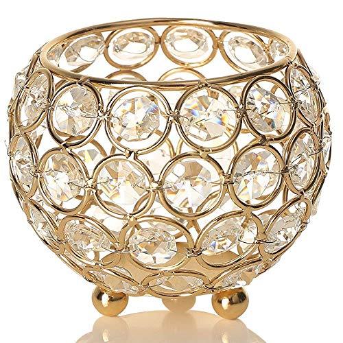 VINCIGANT Kristall Kerzenständer Kerzenhalter Teelichthalter for Modern Wohnung Dekoration...