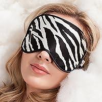 WEITINENA Schlafmaske/Augenbinde, 100% reine Seide, super weiche Augenmaske, ein Band, Zebra preisvergleich bei billige-tabletten.eu