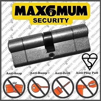 Yale Locks As5545pb Euro Cylinder Anti Snap 55 45 110mm