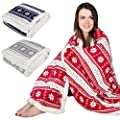 Snowflake Design Luxury Fleece Blanket Soft Sherpa Warm Home Sofa Bed Throw - inexpensive UK light shop.