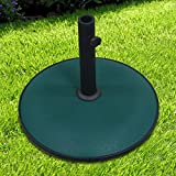 Crystals Round Concrete Parasol Base for Garden Patio Umbrella Sunshade Holder Stand by