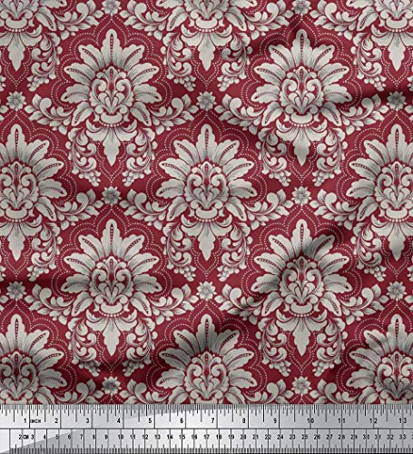 Soimoi 2-Wege Stretch-Blumendamast Printed 60