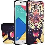 MOONCASE Galaxy A5 (2016) Coque, [Tigre] Creative 3D motif Protection Etui en Silicone pour Samsung Galaxy A5 (2016) A510F Housse Antidérapant en TPU Gel Avec Absorption de Chocs