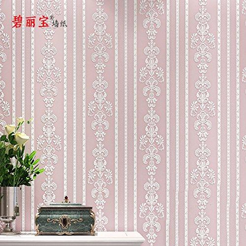 Tappezzeria contemporanea Art Deco 3D semplice moderna carta da parati rivestimenti arte parete tessuto Non tessuto,Rosa pallido