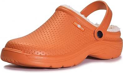 Uomo Lined Clog Donna Zoccoli e Sabot Pelliccia Foderato Pantofole Impermeabile Scarpe da Giardino Inverno Ciabatte da casa per Unisex