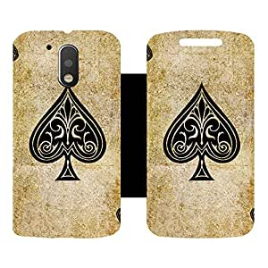 Phone Candy Designer Flip Cover with hi-res printed Vinyl sticker wrap-around for Motorola Moto G4 Plus