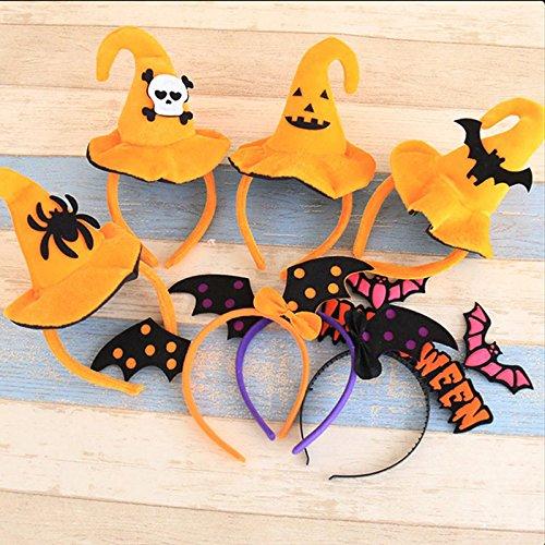 7Stück Verpackung Halloween Baby Mädchen Haar Clips Dressup für Partys (Machen Sie Eine Bat Kostüm)