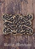Cinturón Hebilla–Serpiente Wesen en wikingerzeitlichen Urnes estilo de LARP gürtelschließe Vikingo Medieval Plata o bronce marrón