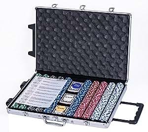 eSecure Professional 11.5g 1000pcs Poker Set inc. Dealer & Blind Buttons, 3 Card Decks & Aluminium Carry Case