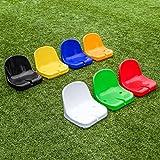 FORZA Asientos de Estadio de Plástico   Asientos HDPE para Banquillo de Jugadores (Azul, Pack de 10)