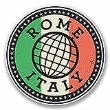 2 x 20cm/200mm Rom Italien ItaliaVinyl SELBSTKLEBENDE STICKER Aufkleber Laptop reisen Gepäckwagen iPad Zeichen Spaß #9842