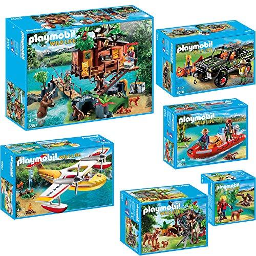 Preisvergleich Produktbild PLAYMOBIL® Wild Life 6-teiliges Komplett-Set 5557 5558 5559 5560 5561 5562 Ab...