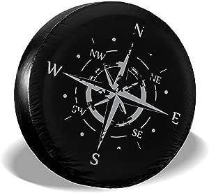 Drew Tours Distressed Compass Reserveradabdeckung Pvc Leder Wasserdicht Staubdicht Rad Reifenabdeckung 15 Zoll Fit Für Wrangler Auto
