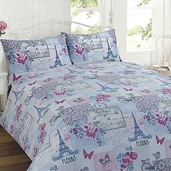 Pink Paris Bedding Duvet Cover Set Double Size / Paris Eiffel ... : paris quilt cover set - Adamdwight.com