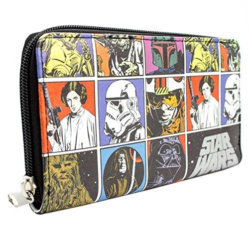 iche Retro Schwarz Portemonnaie Geldbörse (Sith Kostüm Design)
