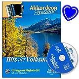 Hits der Volksmusik - Akkordeon Festival - Autor : Arturo Himmer - Akkordeon Noten mit CD und bunter herzförmiger Notenklammer