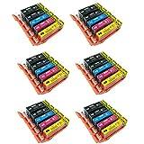 30PerfectPrint Kompatible Tintenpatronen für Canon Pixma iP4850iP4950iX6550MG5150MG5250MG5300MG5320MG5350MG6150MG6250MG8150MG8170MG8220MG8250MX715MX885MX895Drucker