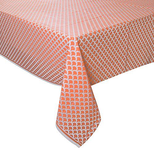 Coral Scallop Tablecover 54X108
