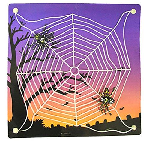 Dildoridoo - Halloween Dekoration Party Spinnennetze mit 2 Spinnen, 2 Stk., (Kostüm Natur Hexe)