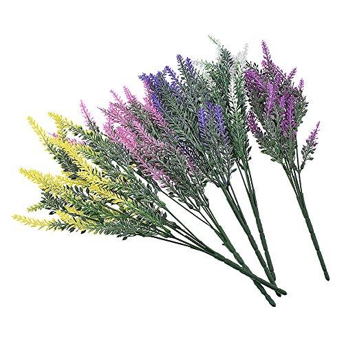 HuaYang Künstlich Kunststoff Blume Kunstblume Lavendel Strauß Haus Dekor 25 Köpfe