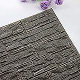 TianranRT DIY 3D Ziegel PE Schaum Tapete Paneele Zimmer Aufkleber Stein Dekoration Geprägte (M)