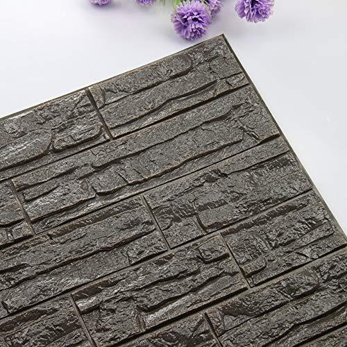 JiaMeng Pegatinas de Pared DIY 3D ladrillo PE Espuma Wallpaper Panels Room...