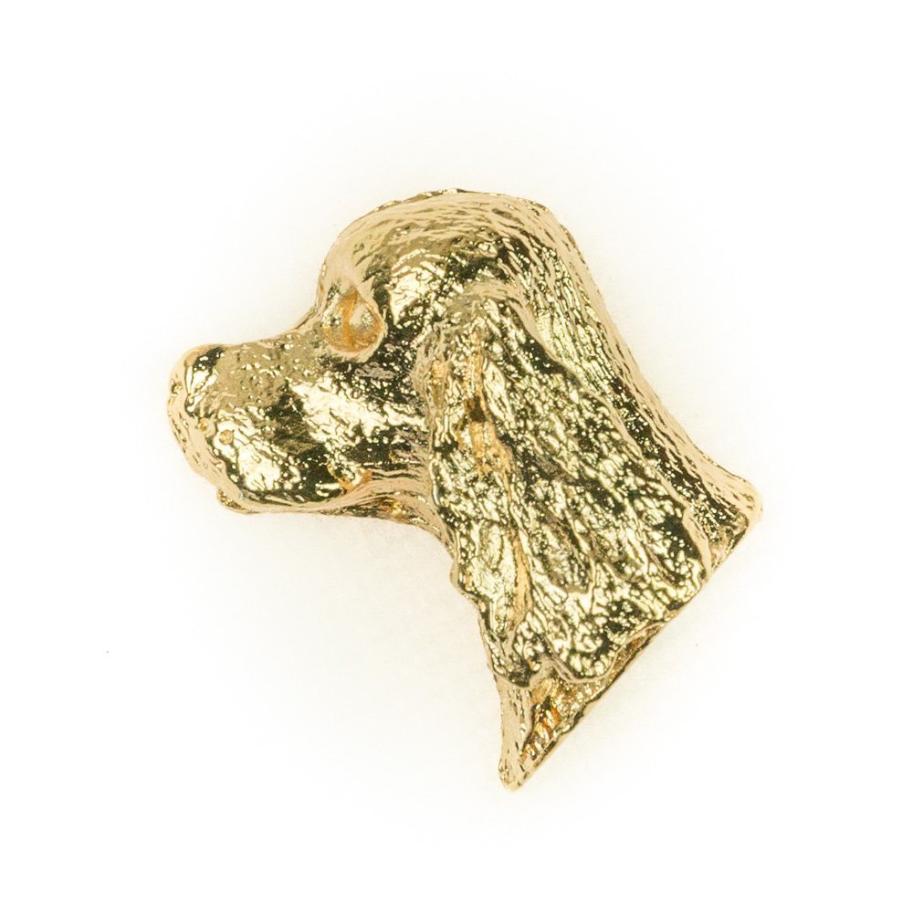 AMERICAN COCKER SPANIEL Made in U.K Artistic Style Dog Clutch Lapel Pin Collection 22ct Gold Plated