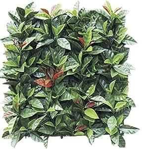 Siepe sintetica Photinia bicolor a mattonella cm 50x50
