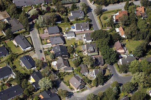 MF Matthias Friedel - Luftbildfotografie Luftbild von Vörn Styg in Bahrenfeld (Hamburg), aufgenommen am 10.08.04 um 11:55 Uhr, Bildnummer: 3097-21, Auflösung: 3000x2000px = 6MP - Fotoabzug 50x75cm
