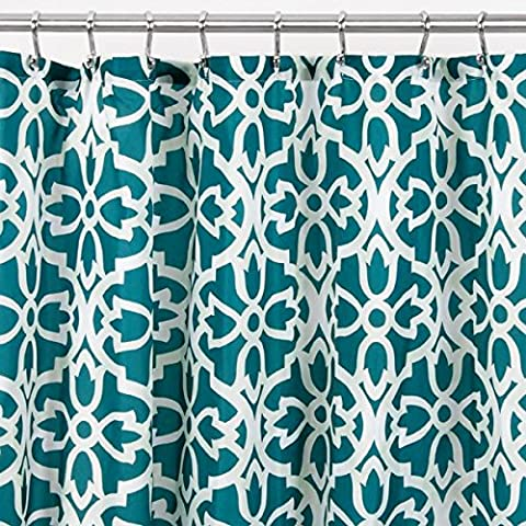 Tissus Rideaux - mDesign Rideau de douche en tissu,Trellis -