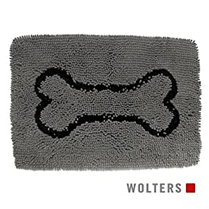 Dirty Dog Doormat Tapis pour chien Gris Format médium 78 x 50 cm
