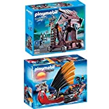 Playmobil Dragons & Knights 2er Set 5481 6628 Drachen-Kampfschiff