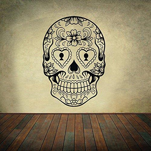 Adhesivo decorativo para pared en vinilo, diseño de calavera...