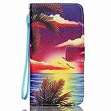 Portefeuille Etui pour Samsung Galaxy S6 Edge Plus, Coffeetreehouse PU Lanyard Cuir Flip Housse Étui Cover Case Wallet Portefeuille Supporter avec Carte de Crédit Fentes pour Samsung Galaxy S6 Edge Plus - YB-F6
