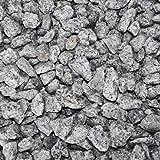 PALIGO Granit Splitt Zier Edel Kies Deko Stein Garten Natur Kiesel Dekor Salz & Pfeffer Grau Grob 16-22mm 20kg Sack / 1 Karton Galamio®