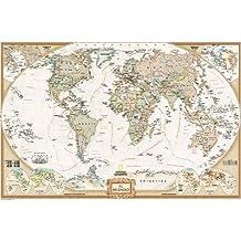 Mapa mural del mundo executive grande. 140x100cm. Español. National Geographic.