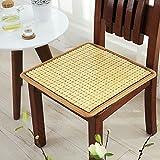 QTQZ Summer bamboo kissen,Computer sitzkissen büro tisch mat stuhl mat automatte cooling pad sitzkissen-C 60x60cm(24x24inch)