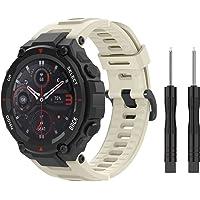 MoKo Bracelet Compatible avec Huami T-Rex/T-Rex Pro, Bande de Montre de Remplacement de Sport en Silicone Souple avec…