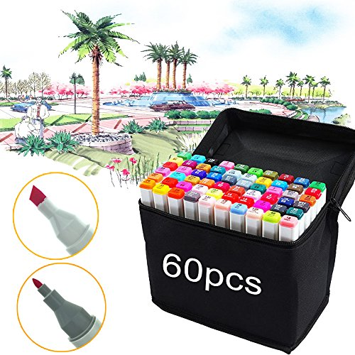 Bingohobby 60er Pack Farbe Grafik Design Marker Set Schreibwaren Büromaterial Filzstifte neue Generation