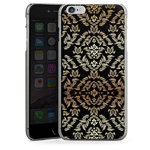 Apple iPhone X Silikon Hülle Case Schutzhülle Ornamente Muster Blumen Hard Case anthrazit-klar