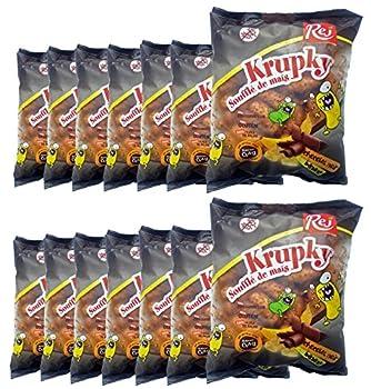 Krupky Soufflé de Maïs au chocolat noir et à la banane - SANS GLUTEN - Lot de 14 sachets de 90g