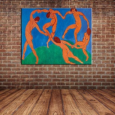 IPLST@ Arte moderno de la pared, gente abstracta Pintura desnuda del hombre del baile del hombre desnudo en la lona, pintados a mano de la pared del arte de la lona -24x32inch (Sin marco, sin bastidor)