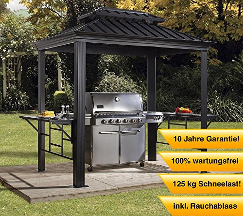 sojag aluminium pavillon berdachung bbq messina. Black Bedroom Furniture Sets. Home Design Ideas