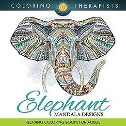 Elephant mandala designs relaxing coloring books for Relaxing coloring books for adults