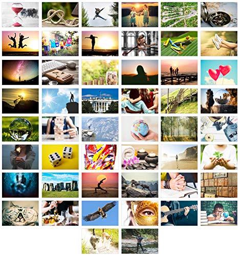 Edition Seidel Set 50 Premium Postkarten Motivationskarten Kommunikationstraining Konversation-Spiel Coaching Tools Karten Landschaften Natur Gefühlskarten Selbst-Achtsamkeit Sprüche (Landschaft-tools)