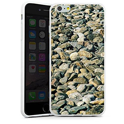 Apple iPhone X Silikon Hülle Case Schutzhülle Steine Fels Natur Silikon Case weiß